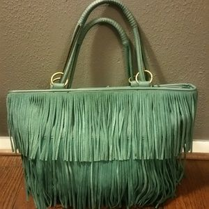 Nine West Dakota Fringe Lg. Turquoise